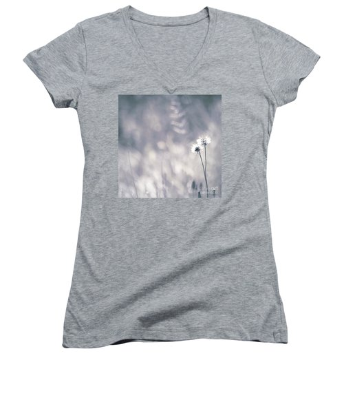 Women's V-Neck T-Shirt (Junior Cut) featuring the photograph Beaute Des Champs - 0101 by Variance Collections