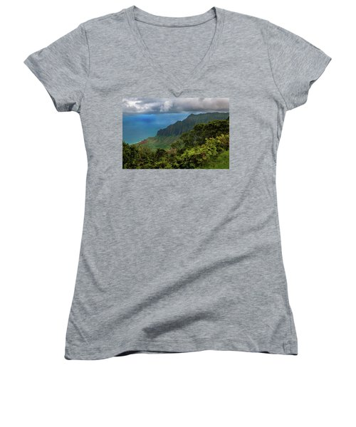 Beautiful And Illusive Kalalau Valley Women's V-Neck