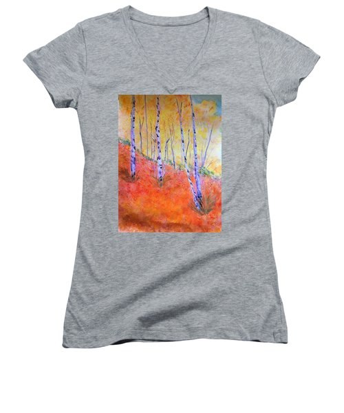 Beautiful Birches Women's V-Neck