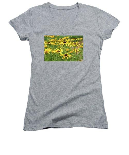 Beautiful Black Eyes Women's V-Neck T-Shirt