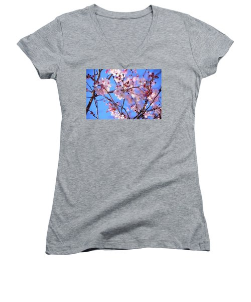 Beautiful Blossoms Blooming  For Spring In Georgia Women's V-Neck (Athletic Fit)