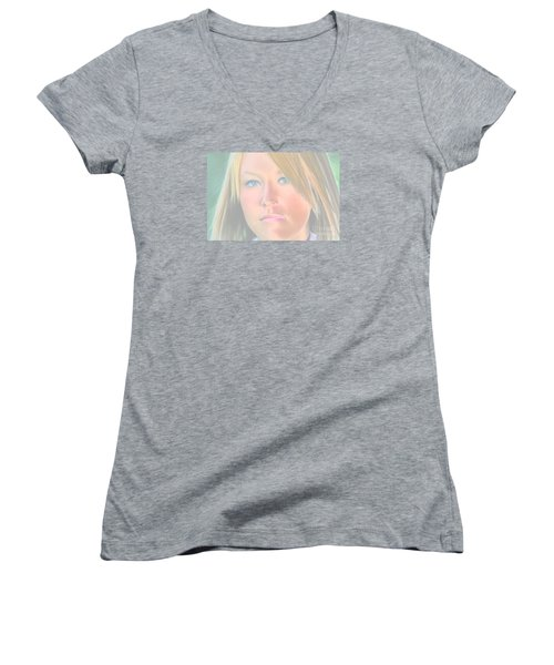 Beautiful Blues Altered Women's V-Neck T-Shirt