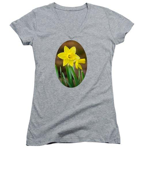 Beautiful Daffodil Flower Women's V-Neck T-Shirt