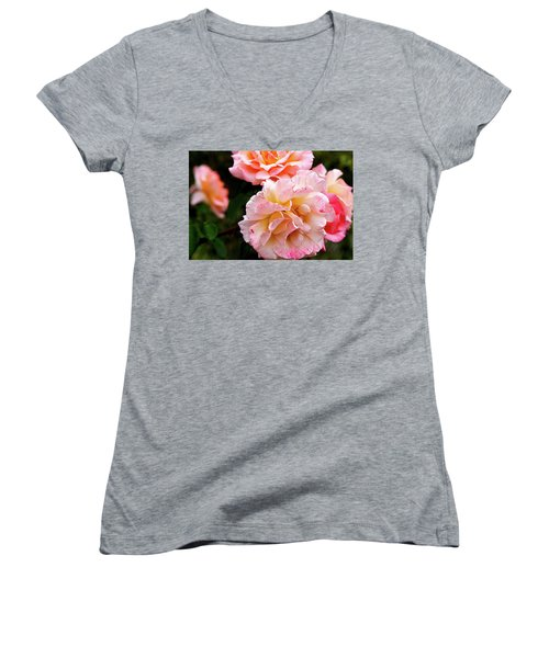 Beautiful Flowers In Cambridge Women's V-Neck