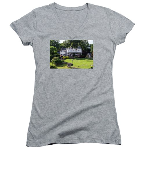 Beautiful Home On Lake Hopatcong Women's V-Neck T-Shirt