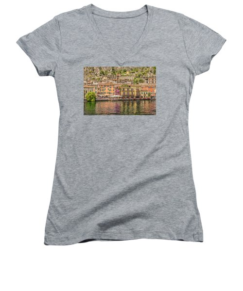 Beautiful Italy Women's V-Neck T-Shirt (Junior Cut) by Roy McPeak