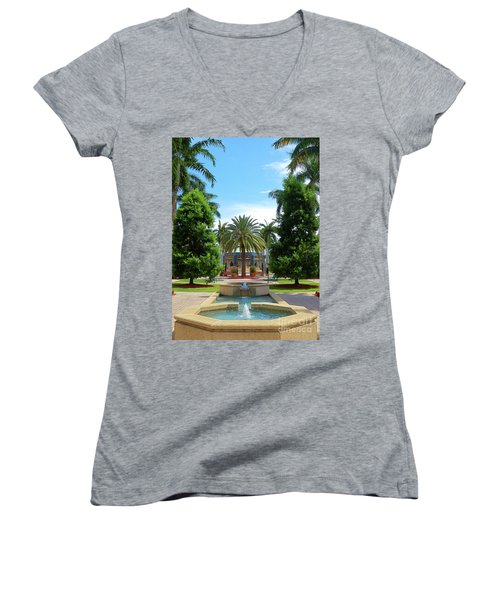 Beautiful Mizner Park In Boca Raton, Florida. #8 Women's V-Neck (Athletic Fit)