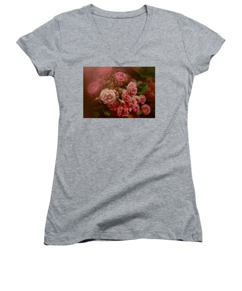 Beautiful Roses 2016 No. 2 Women's V-Neck T-Shirt