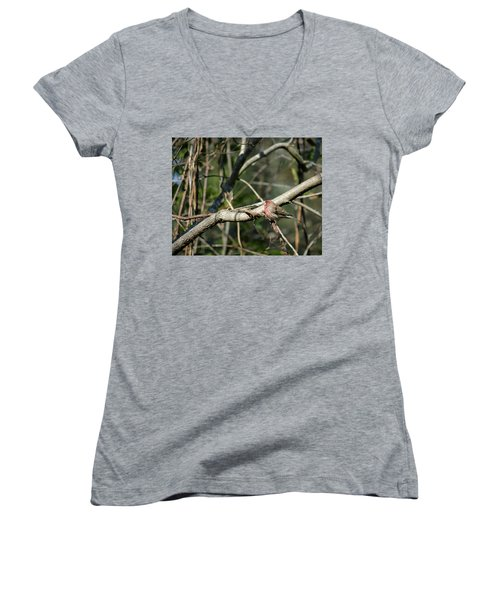 Women's V-Neck T-Shirt (Junior Cut) featuring the photograph Beautiful Winter Day by Cathy Harper
