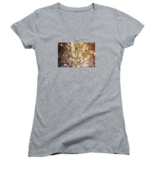 Beauty And The Branches Women's V-Neck T-Shirt (Junior Cut) by Janie Johnson