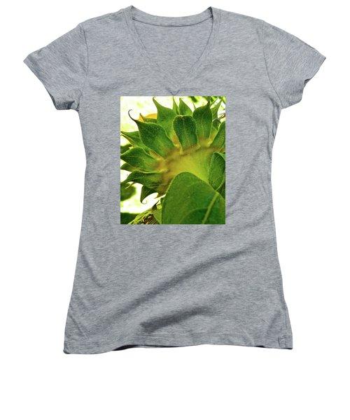 Women's V-Neck T-Shirt (Junior Cut) featuring the photograph Beauty Beneath by Randy Rosenberger