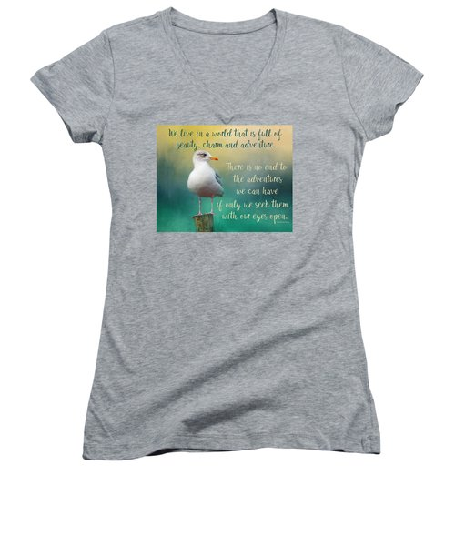 Beauty, Charm And Adventure Women's V-Neck