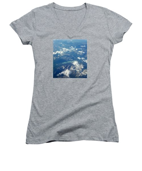 Beauty From The Skies Women's V-Neck (Athletic Fit)