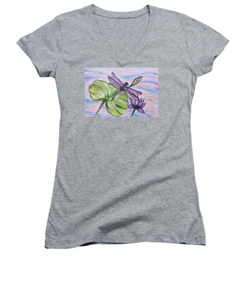 Beauty In Nature Women's V-Neck (Athletic Fit)