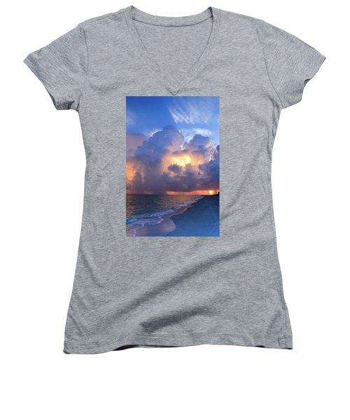 Women's V-Neck T-Shirt (Junior Cut) featuring the photograph Beauty In The Darkest Skies II by Melanie Moraga