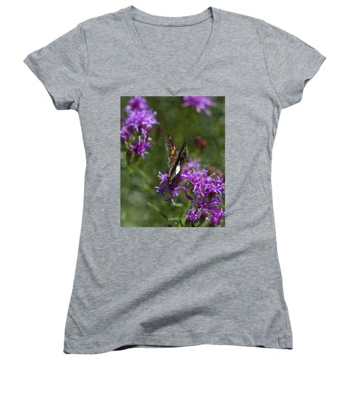 Beauty In The Garden Women's V-Neck (Athletic Fit)
