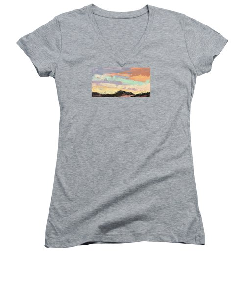 Beauty In The Journey Women's V-Neck T-Shirt (Junior Cut) by Nathan Rhoads