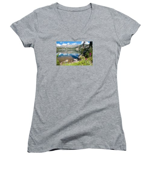 Beauty Lake Women's V-Neck T-Shirt