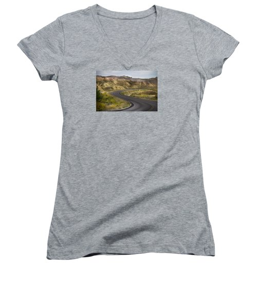 Beauty Of The Badlands South Dakota Women's V-Neck T-Shirt