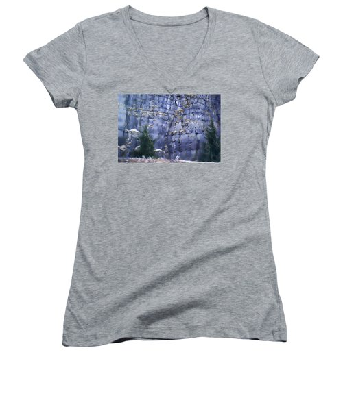 Beauty Of The Gorge Women's V-Neck T-Shirt (Junior Cut) by Dale Stillman