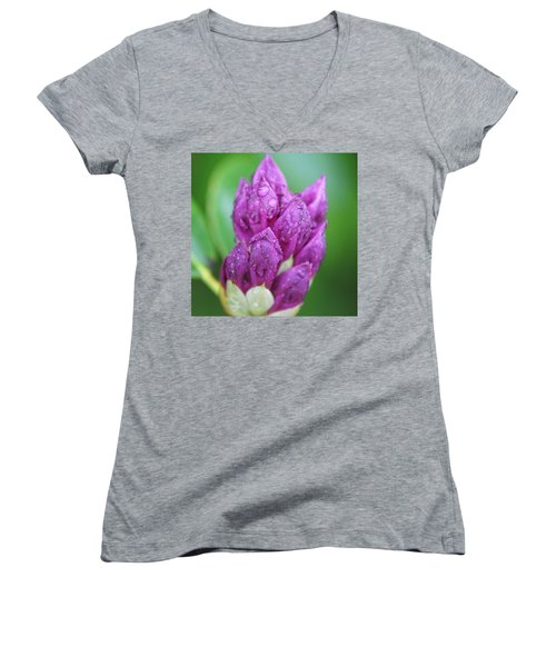 Women's V-Neck T-Shirt (Junior Cut) featuring the photograph Bedazzled by Alex Grichenko