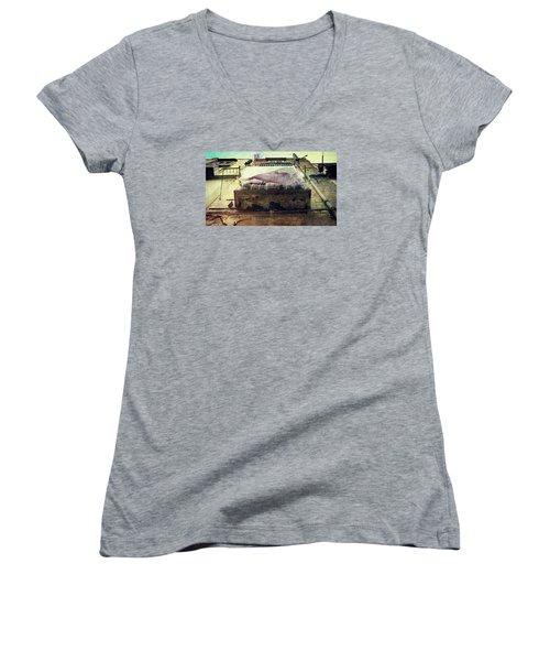 Bedclothes Women's V-Neck T-Shirt (Junior Cut) by Vittorio Chiampan