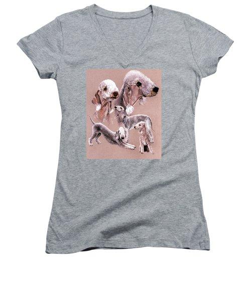 Bedlington Terrier Women's V-Neck T-Shirt