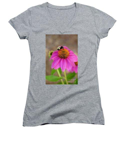 Bee Happy Women's V-Neck