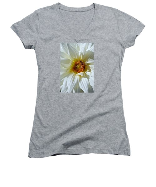 Bee Nice Dahlia  Women's V-Neck T-Shirt