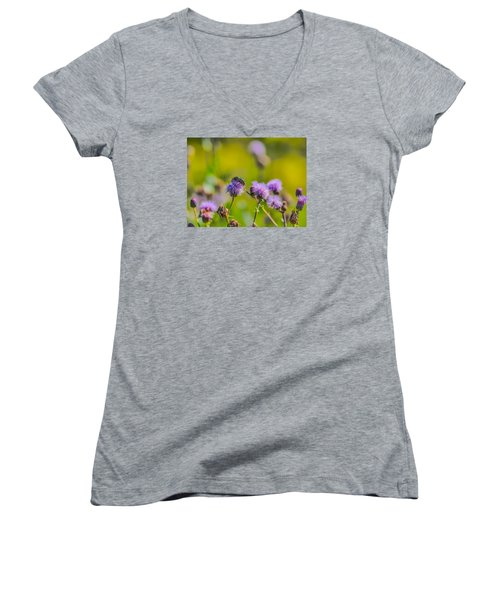 Women's V-Neck T-Shirt (Junior Cut) featuring the photograph Beetle by Leif Sohlman