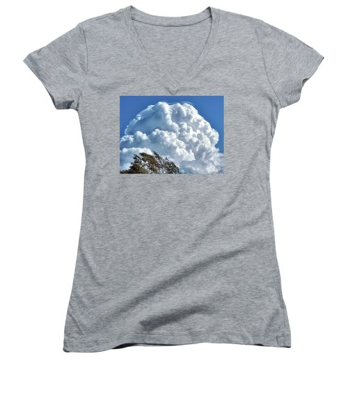 Before The Storm Women's V-Neck (Athletic Fit)