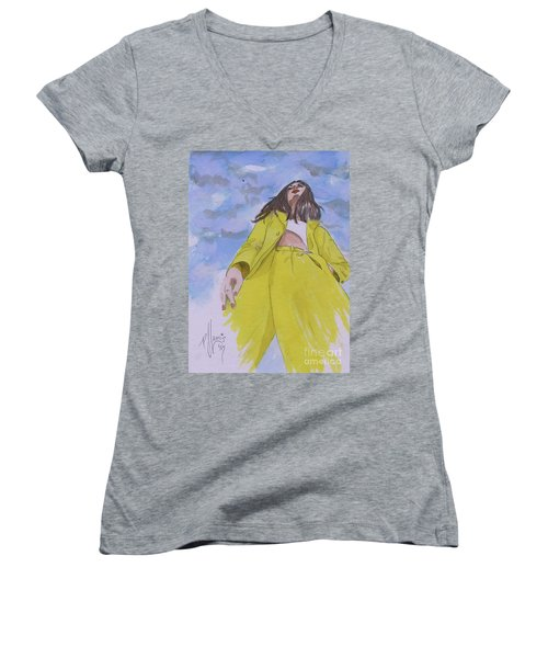 Before The Storm Women's V-Neck T-Shirt (Junior Cut)