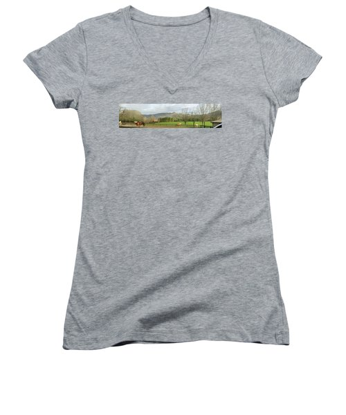 Behind The Dillard House Restaurant Women's V-Neck T-Shirt