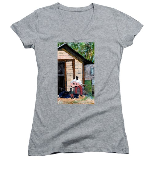 Behind The Old House Women's V-Neck (Athletic Fit)