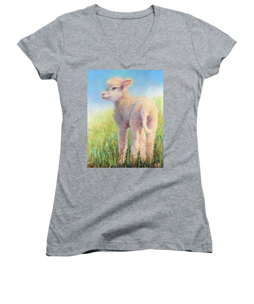 Behold The Lamb Women's V-Neck T-Shirt