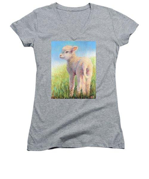 Behold The Lamb Women's V-Neck T-Shirt