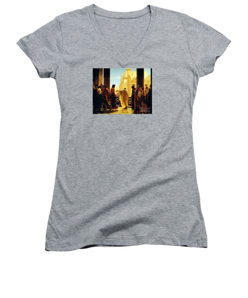 Behold The Man Women's V-Neck T-Shirt (Junior Cut) by Celestial Images