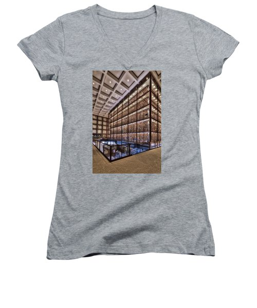 Beinecke Rare Book And Manuscript Library Women's V-Neck