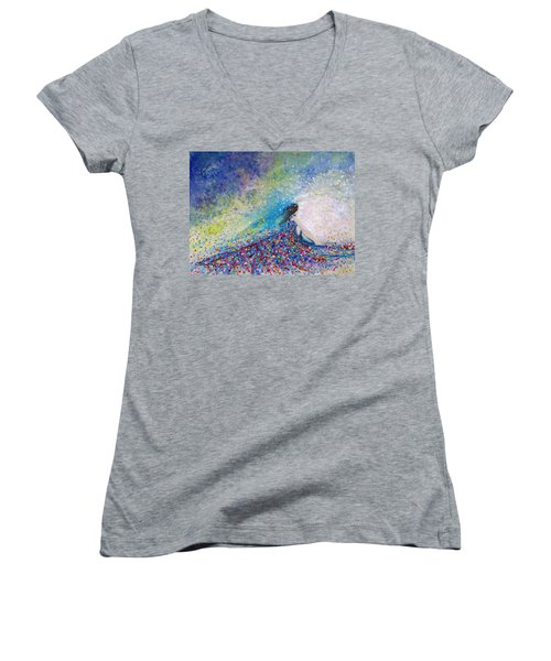 Being A Woman - #5 In A Daydream Women's V-Neck T-Shirt (Junior Cut) by Kume Bryant