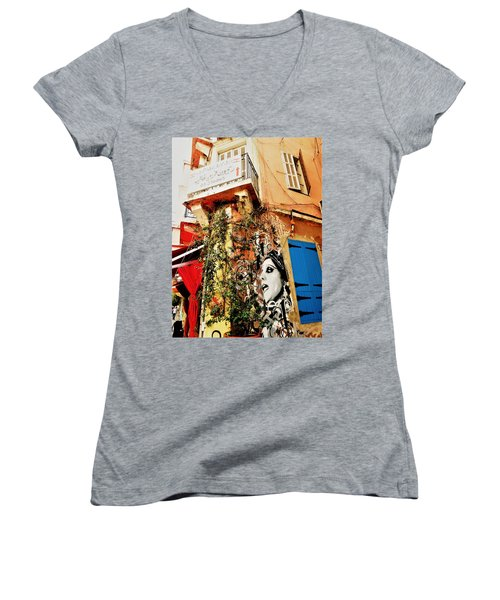 Beirut Home Tagged With Fayrouz Women's V-Neck (Athletic Fit)