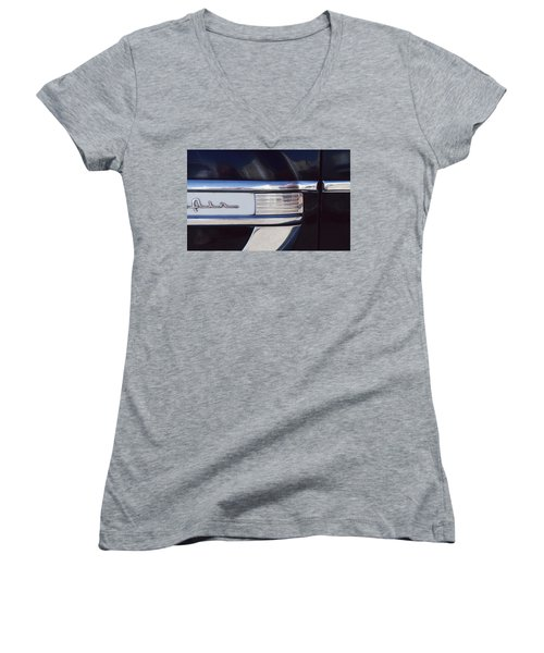 Women's V-Neck T-Shirt (Junior Cut) featuring the photograph Belair by Laurie Stewart