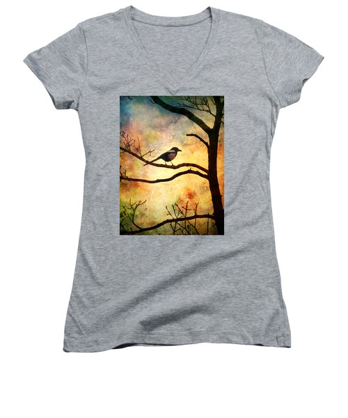 Believing In The Morning Women's V-Neck T-Shirt (Junior Cut)