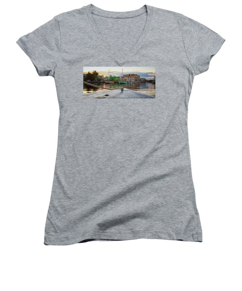 Belize City Harbor Women's V-Neck