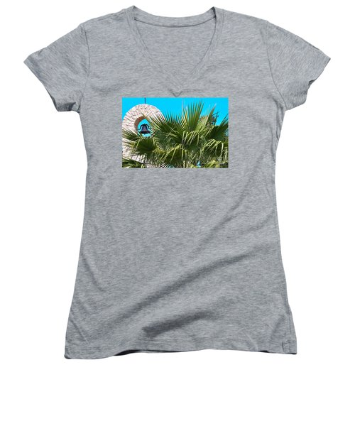Women's V-Neck T-Shirt (Junior Cut) featuring the photograph Bell by Ray Shrewsberry