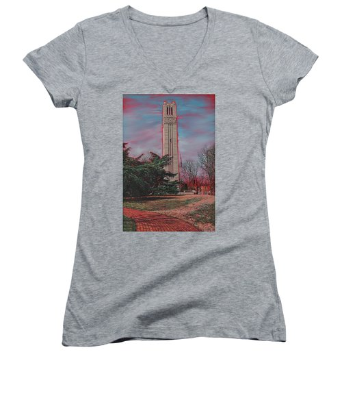 Bell Tower Women's V-Neck (Athletic Fit)