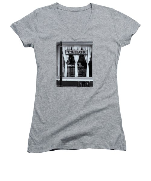 Women's V-Neck T-Shirt (Junior Cut) featuring the photograph Bellows Falls Tailor by Tom Singleton