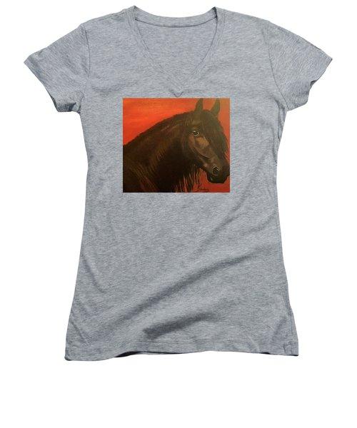 Belmonte Women's V-Neck T-Shirt (Junior Cut) by Manuel Sanchez