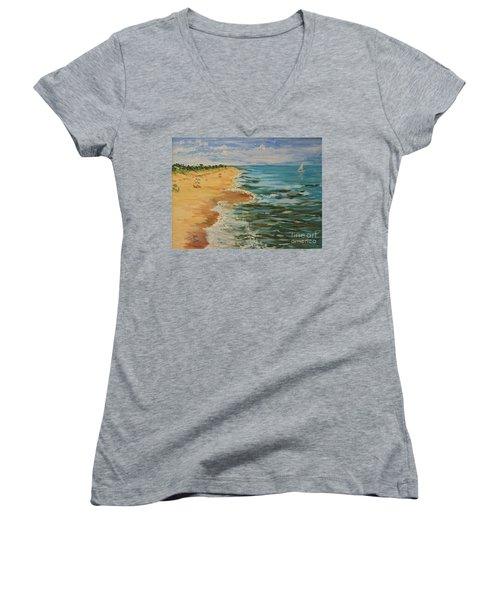 Beloved Beach - Sold Women's V-Neck T-Shirt