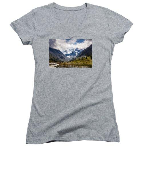 Belukha Mountain. Altay. Russia Women's V-Neck