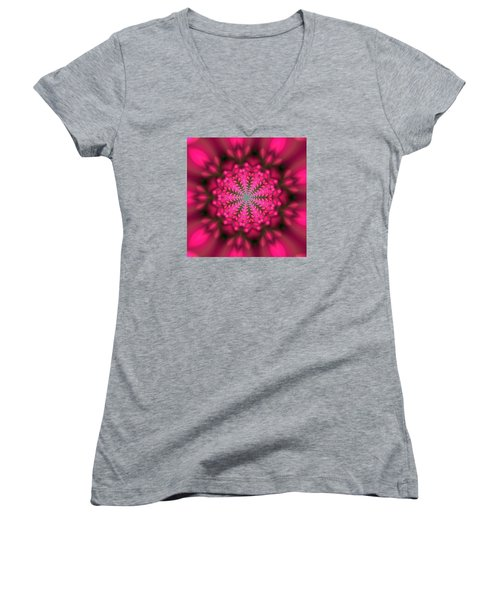 Ben 9 Beats 2 Women's V-Neck T-Shirt (Junior Cut) by Robert Thalmeier